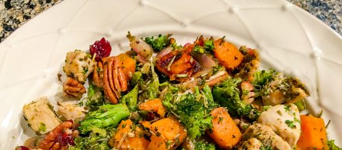 One Dish Dinner – Sweet Potato, Broccoli, & Chicken