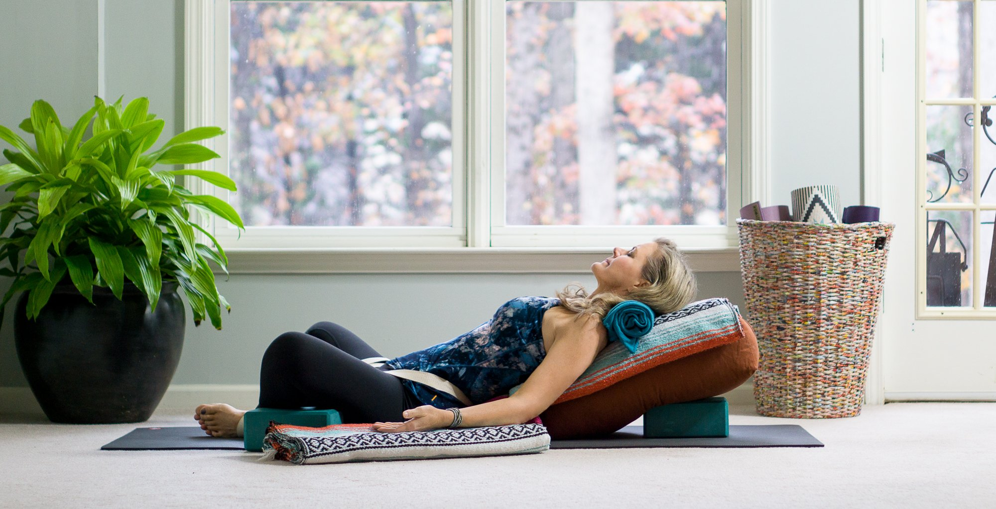 Benefits of Restorative Yoga Mini-Vacation to Relax and Renew