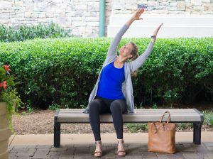 Side Stretch Yoga Pose - Travel Yoga