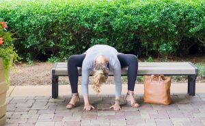 Seated Forward Fold Yoga Pose for Travel