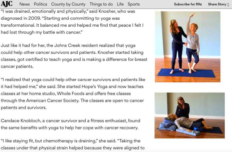 AJC Feature Article - Hope Knosher - page 2