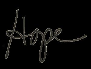 Hope Knosher Yoga Teacher Signature
