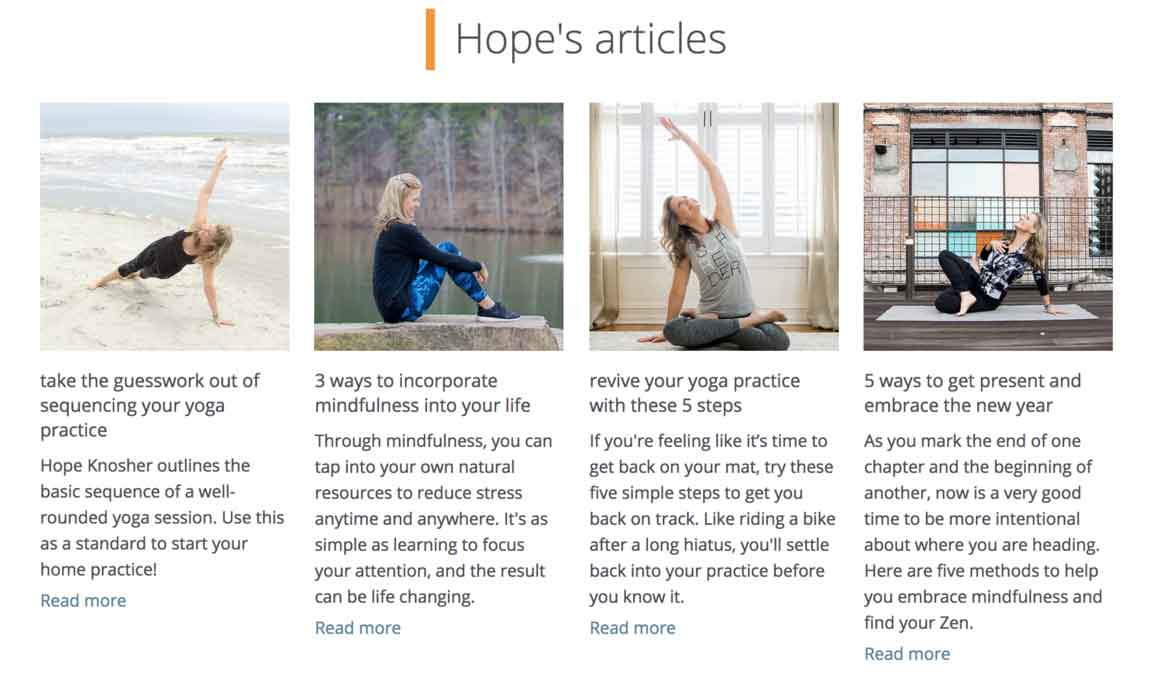 Hope's Articles at Lucy Magazine