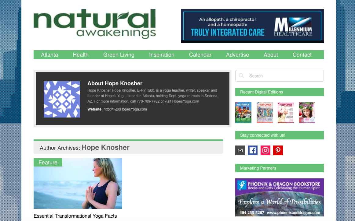 Articles by Hope on Natural Awakenings