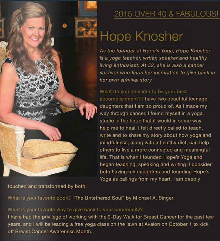 Hope Knosher - Over 40 and Fabulous